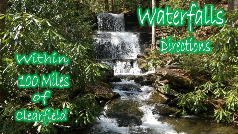 Waterfalls less than 100 miles away
